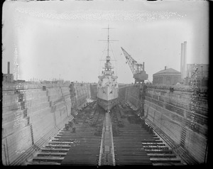 USS Cincinnati dry dock South Boston. 50 gross for crane used around the dock.