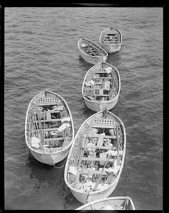 Life boats from SS Boston