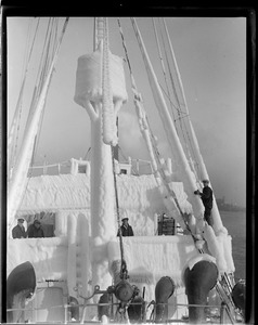 SS Prince George clad in ice