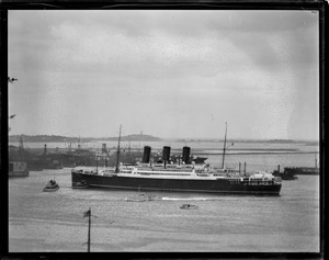 SS Caledonia, Anchor Line ship in Boston Harbor