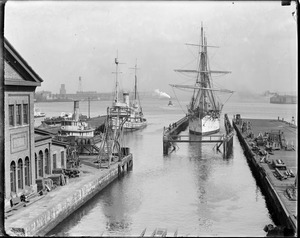 Training ship Nantucket in Charlestown Navy Yard