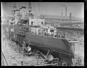 USS Richmond in Navy Yard dry dock