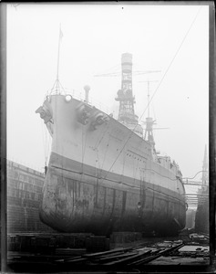 Argentine ship Rivadavia in South Boston dry dock