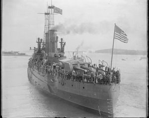 USS North Dakota just completed at Fore River