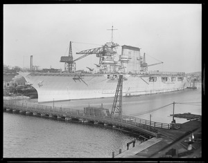 Aircraft carrier USS Lexington at Fore River in Quincy