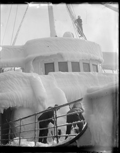 SS Aw Perry pilot house covered in ice
