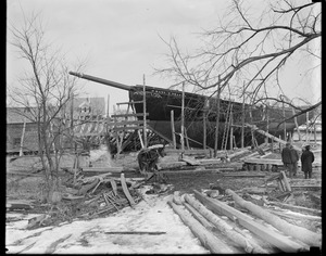 Building the Mary E. O'Hara at Essex Boat yard