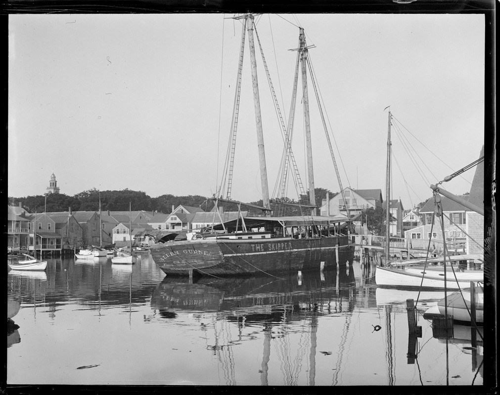 Boat in small harbor. The Allen Gurney or the Skipper. Calais
