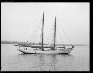 MacMillan's boat SS Bowdoin that he sails when he goes North
