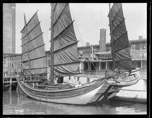 Chinese Junk at T-Wharf. 'Amoy': Stratford, Conn.