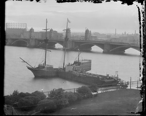 Ship 'Arbella' docked near W. Boston bridge