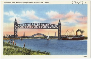 Railroad and Bourne Bridges over Cape Cod Canal