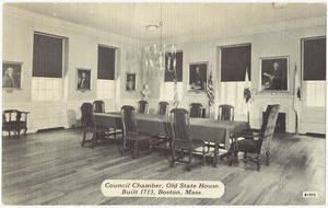 Council Chamber, Old State House, built 1713, Boston, Mass.