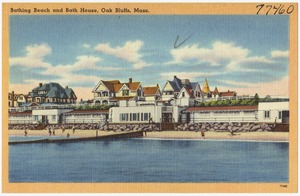 Bathing beach and bath house, Oak Bluffs, Mass.