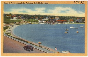 General view across Lake Anthony, Oak Bluffs, Mass.