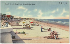 Beach Ave., looking north, Ocean Bluffs, Mass.