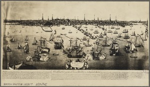 A south east view of the great town of Boston in New England America