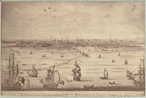 A south east view of the City of Boston in North America