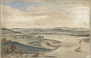 View of the South End of Boston in New England America & of the neck taken from the hill N.E. of the Common