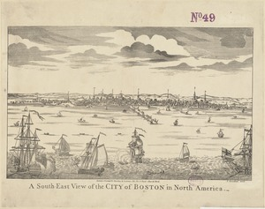 A south-east view of the City of Boston in North America