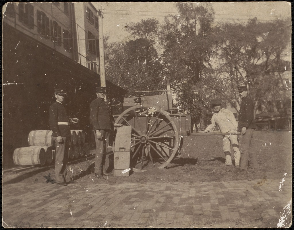 Photographs related to marines stationed at Charlestown Navy Yard