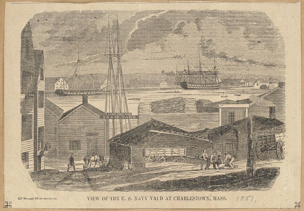 View of the U. S. Navy Yard at Charlestown, Mass.