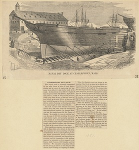 Naval dry dock at Charlestown, Mass.