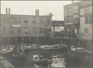 Boston, Massachusetts. Italian fishing fleet -- power boats. T wharf, 1910