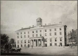 Massachusetts, Boston. Old Tremont House about 1820
