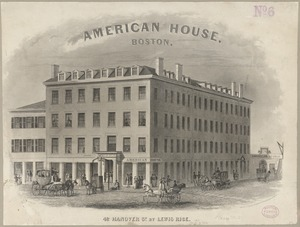 American House, Boston. 42 Hanover St. by Lewis Rice