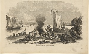 A fishing party in Boston Harbor