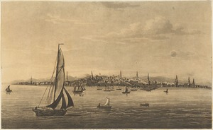 View of Boston, from the bay