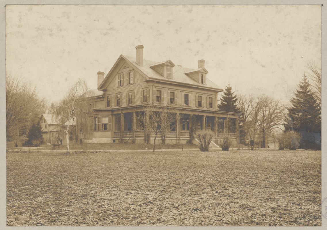 Boston, Massachusetts. Mattapan. Residence of John Conness, U.S. Senator from California 1863-1869