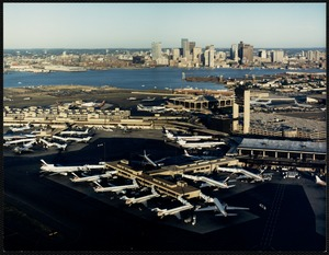 Logan Airport and downtown Boston
