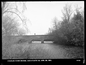 Sudbury Department, Cochituate Aqueduct, Charles River Bridge, Newton; Wellesley, Mass., Apr. 28, 1910