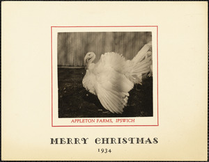 Appleton Farms, Ipswich. Merry Christmas, 1934
