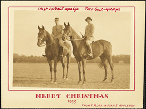 Merry Christmas, 1935, from F.R., Jr. & Joan E. Appleton