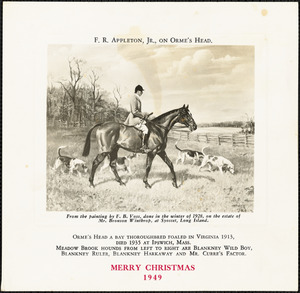 F. R. Appleton, Jr., on Orme's Head. Merry Christmas, 1949