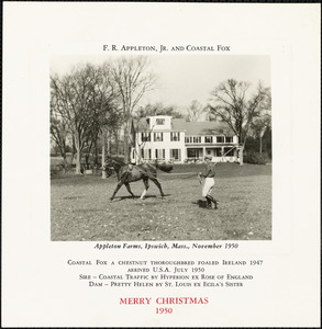 F. R. Appleton, Jr. and Coastal Fox. Merry Christmas,1950