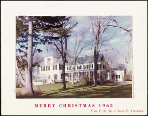 Merry Christmas, 1963, from F. R., Jr. & Joan E. Appleton