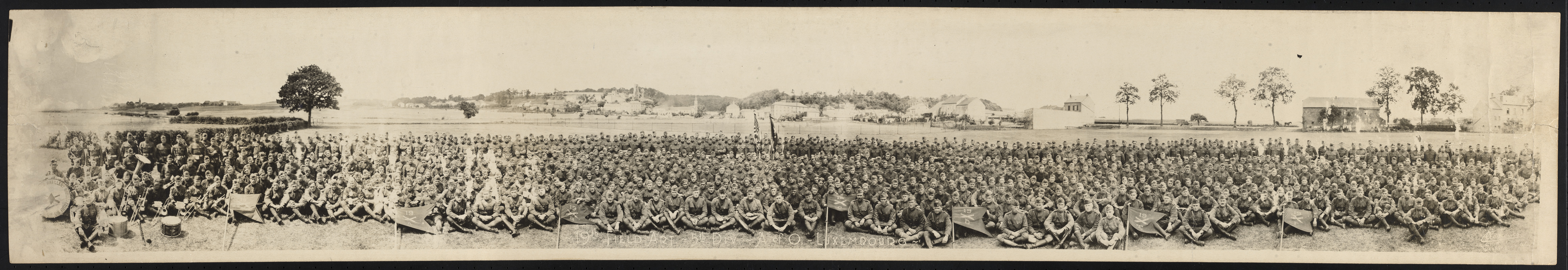 19th Field Artillery, 5th Division, A. of O. - Luxembourg