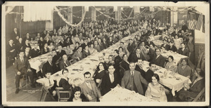 Unidentified group at a banquet