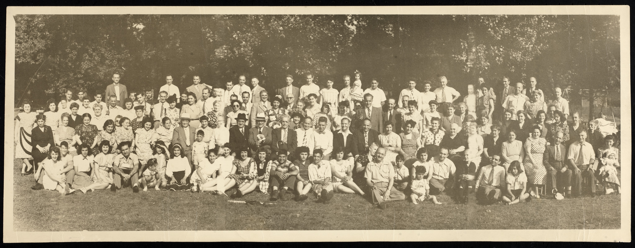 Unidentified group at a picnic