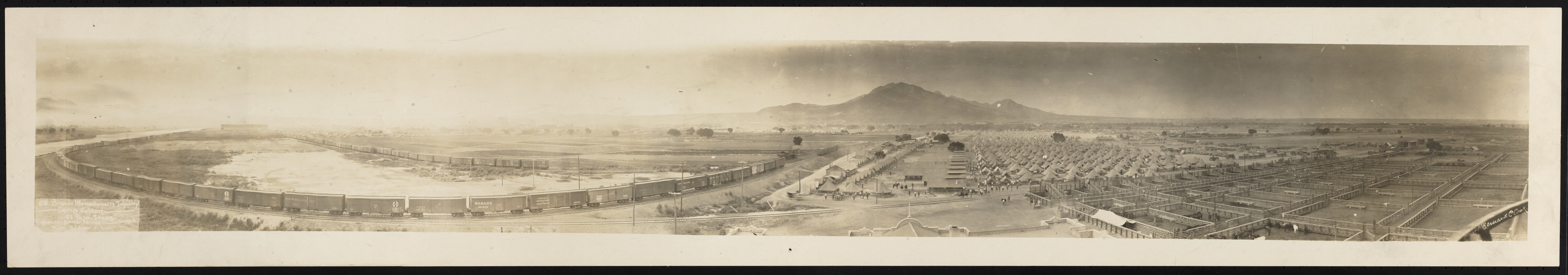 2nd Brigade Massachusetts Infantry, Camp Cotton, Mexican Border Service
