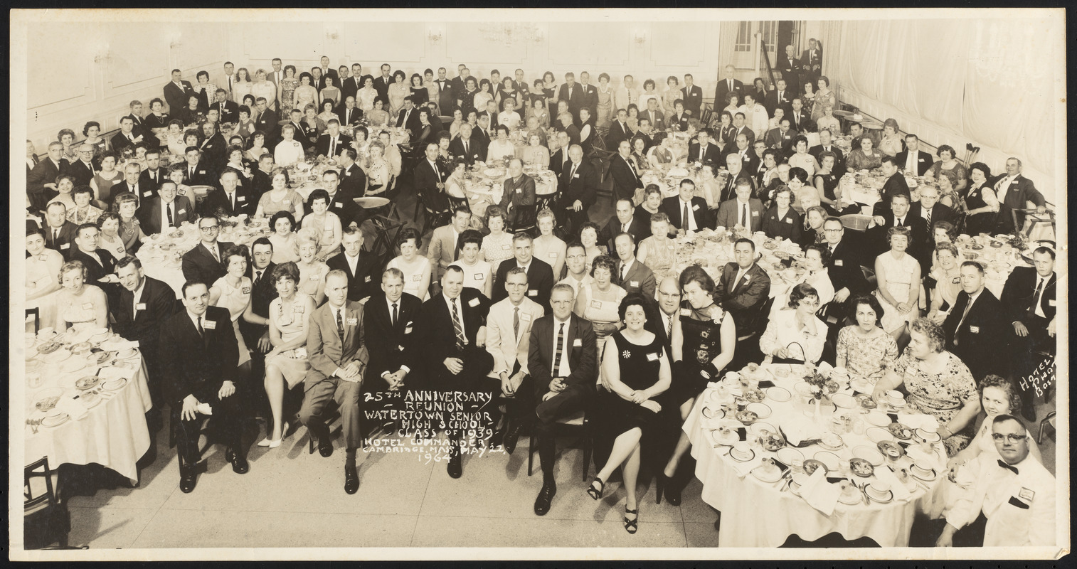 25th anniversary reunion - Watertown Senior High School Class of 1939