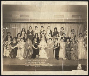 """""""The first ladies of the White House"""" presented by the Women's Central Committee of A.G.B.U. (Armenian General Benevolent Association)"""