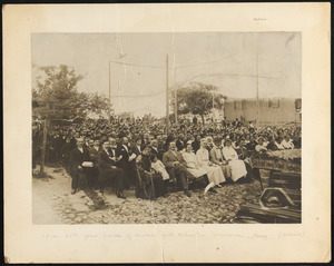 1914 - 50th year jubilee of Anatolia Girls' School in Marsovan, Turkey (audience)