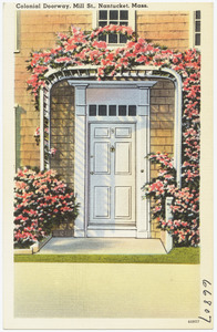 Colonial doorway, Mill. St., Nantucket, Mass.