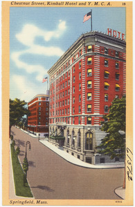 Chestnut Street, Kimball Hotel and Y. M. C. A., Springfield, Mass.