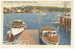 Boat landing and shore, Boothbay Harbor, Maine
